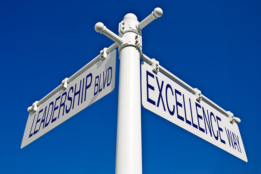 street sign excellence and leadership